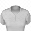 Zipped Collar for Womens Raglan Polo Shirt Close Up View