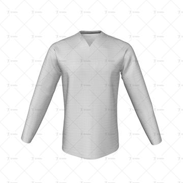 V-Neck Collar for Cricket Long Sleeve Slipover Front View