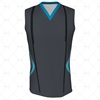 Cricket Sleeveless Slipover V-Neck Collar Front View Design