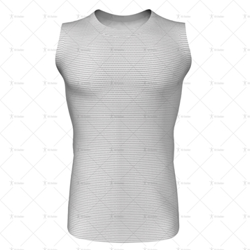 Round Collar for Mens AFL Jersey Front View