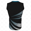 Round Collar for Mens AFL Jersey Back View Design