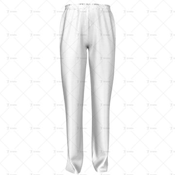 Mens 3 Quarter Length Zip Track Pants Front View
