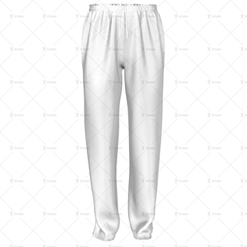 Mens 3 Quarter Length Zip Track Pants Elasticated Cuffs Front View