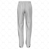 Mens 3 Quarter Length Zip Track Pants Elasticated Cuffs Back View