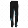 Mens 3 Quarter Length Zip Track Pants Elasticated Cuffs Back View Design