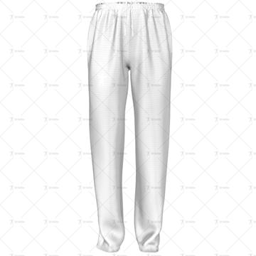 Mens 3 Quarter Length Zip Track Pants Elasticated Cuffs No Velcro Front View