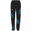 Mens 3 Quarter Length Zip Track Pants Elasticated Cuffs No Velcro Front View Design