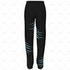 Mens 3 Quarter Length Zip Track Pants Elasticated Cuffs No Velcro Back View Design