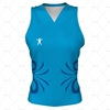 Womens Hockey Tank V-Neck Front View Design