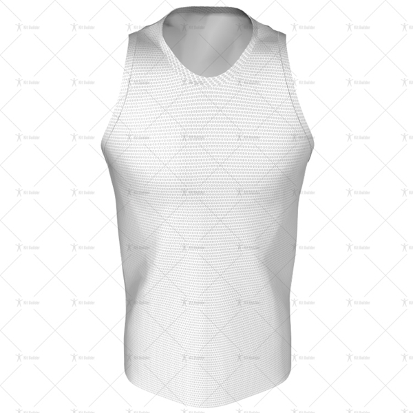Mens Racerback Singlet Round Collar Front View