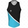 Mens Racerback Singlet Round Collar Front View Design
