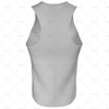 Mens Racerback Singlet V-Neck Collar Back View