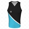 Mens Racerback Singlet V-Neck Collar Front View Design