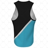 Mens Racerback Singlet V-Neck Collar Back View Design