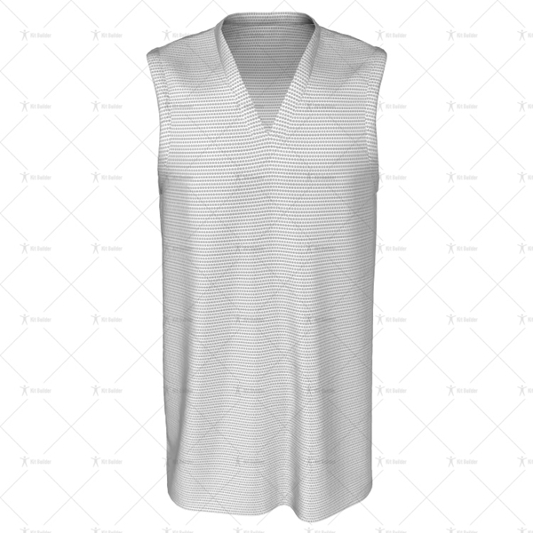 Basketball Singlet V-Neck Collar Front View