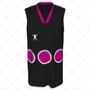 Basketball Singlet V-Neck Collar Front View Design