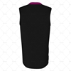 Basketball Singlet V-Neck Collar Back View Design