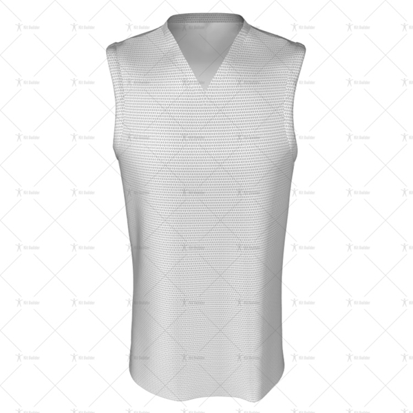 Basketball Singlet Long V-Neck Collar Front View