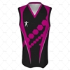 Basketball Singlet Long V-Neck Collar Front View Design
