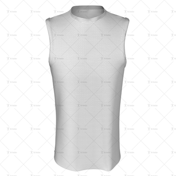 Basketball Singlet Long Round Collar Front View