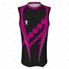 Basketball Singlet Long Round Collar Front View Design