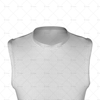 Basketball Singlet Long Round Collar Close Up View