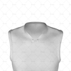 Basketball Singlet Long V-Neck Insert Collar Close Up View