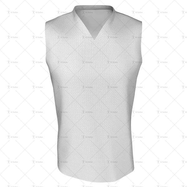 Basketball Singlet Short V-Neck Collar Front View