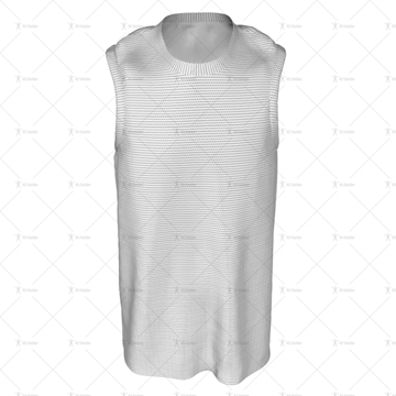 Basketball Singlet Round Collar Front View