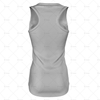 Womens Sports Racerback Dress Round Collar Back View