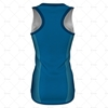 Womens Sports Racerback Dress Round Collar Back View Design