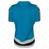 Womens Hockey Jersey Round Collar Back View Design