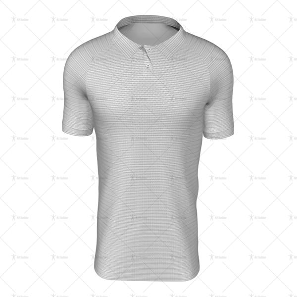 Polo Collar For Mens SS Raglan Football Shirt Front View