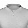 Polo Collar For Mens SS Raglan Football Shirt Close Up View