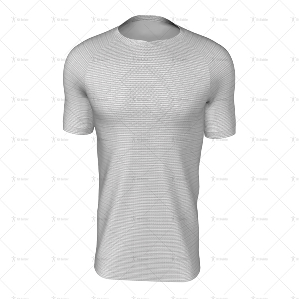 Round Wrap Collar For Mens SS Raglan Football Shirt Front View