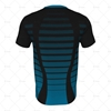 Mens SS Inline Football Shirt V-Neck Collar Back View Design