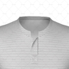 Grandad Collar for Mens SS Inline Football Shirt Close Up View