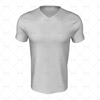 Mens SS Inline Football Shirt V-Neck Collar Front View