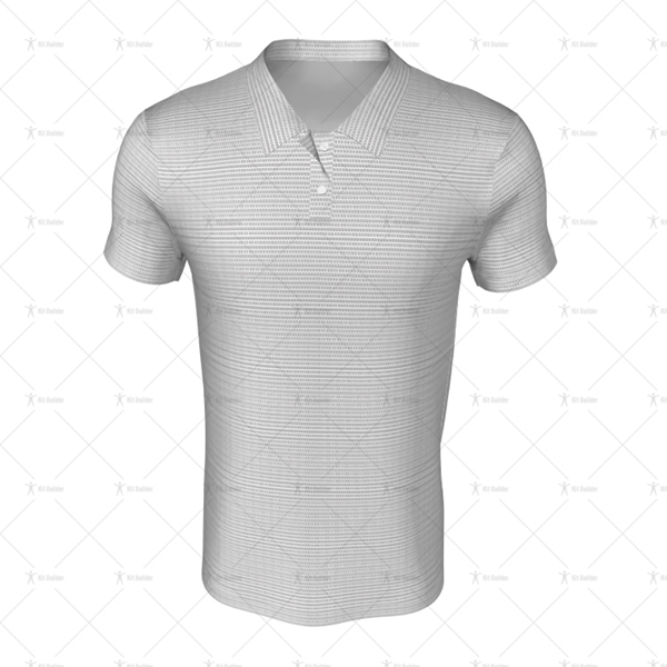 Grandad Collar for Mens SS Inline Football Shirt Front View