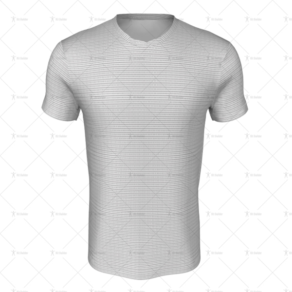 Round Collar for Mens SS Inline Football Shirt Front View