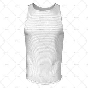 Athletics Singlet with Round Collar Front View 3d kit builder