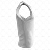 Athletics Singlet with Round Collar Side View 3d kit builder