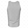 Athletics Singlet with Round Collar Back View 3d kit builder