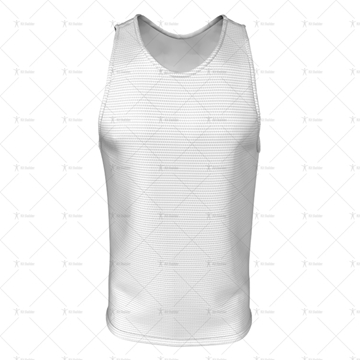 2D Kit Builder Athletics Singlet Small Neck with Round Collar Front View