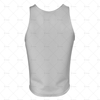 Men's Vest V-Neck Collar Back View