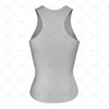 Women's Racerback Singlet Round Collar Back View