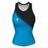 Women's Racerback Singlet Round Collar Front View Design