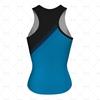 Women's Racerback Singlet Round Collar Back View Design