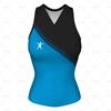 Women's Racerback Singlet V-Neck Collar Front View Design