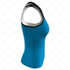Women's Racerback Singlet V-Neck Collar Side View Design